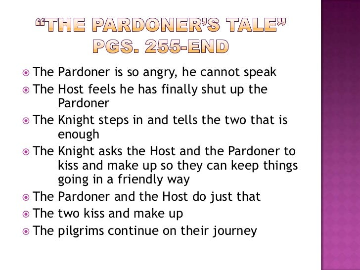 essay about the pardoner
