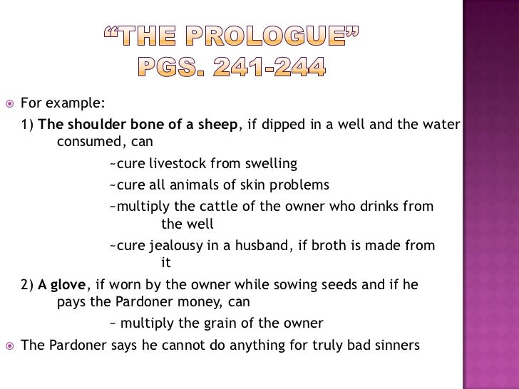 How to write prologue for Tale definition