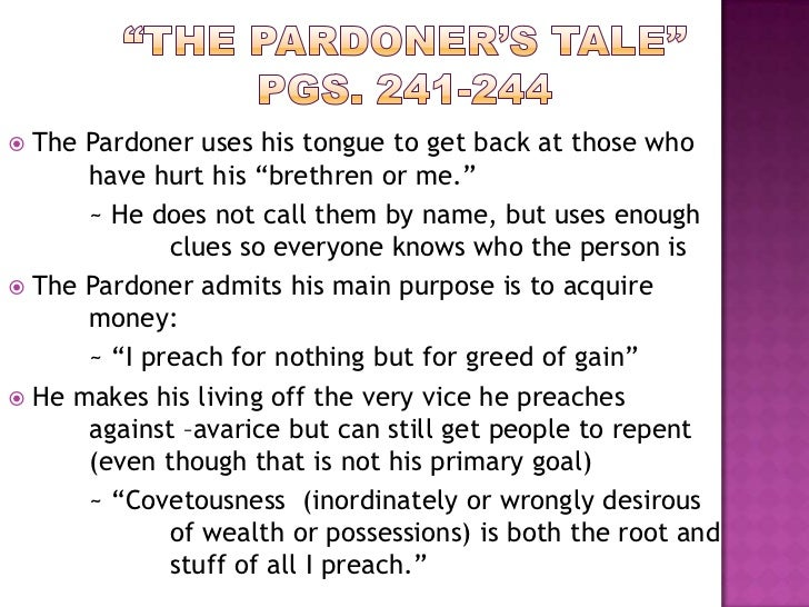 everyman vs the pardoners tale Below is an essay on everyman and beowulf comparison from anti essays a comparison of the pardoners tale and everyman vs the second shepherds.