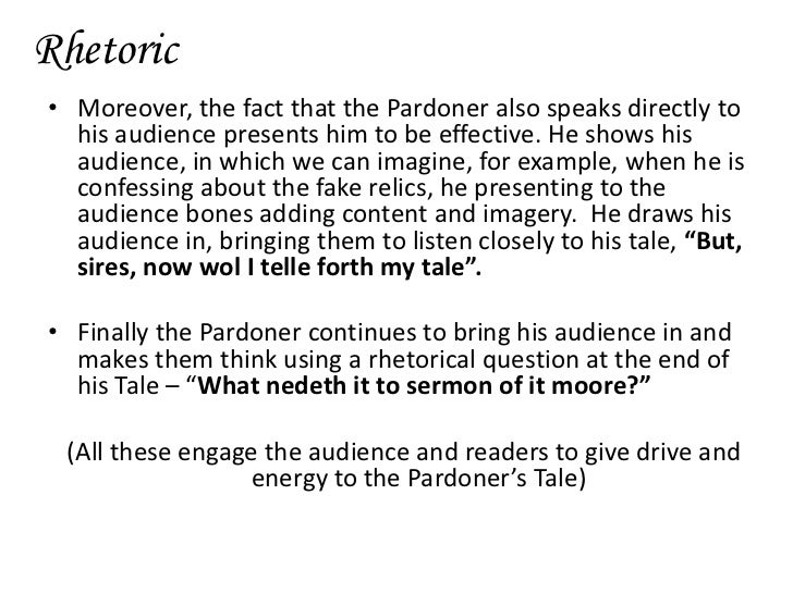 the pardoners prologue essay Chapter summary for geoffrey chaucer's the canterbury tales, the pardoners prologue and tale summary find a summary of this.