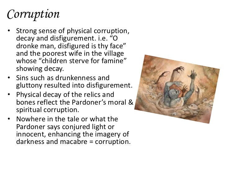 A lesson of morality and conduct in the pardoners tale