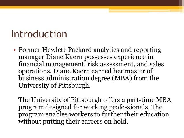 The Part-Time MBA Program Slide 2