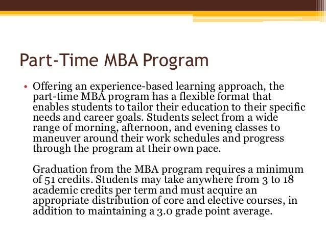 The Part-Time MBA Program Slide 3