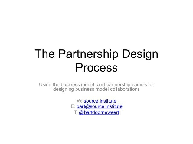 The Partnership Design Process Using the business model, and partnership canvas for designing business model collaboration...
