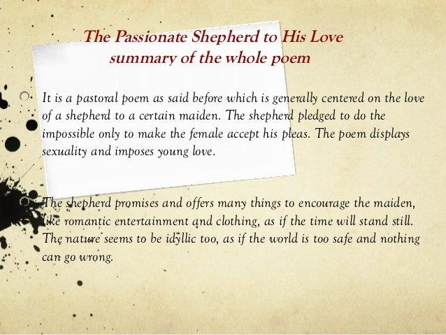 the shepherd to his love poem