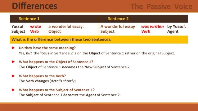the passive voice essay What is the origin of the exclusive use of passive voice in academic writing how should i use passive voice in ielts speaking and writing why do we need to avoid using passive voice or i/my in essay writing.