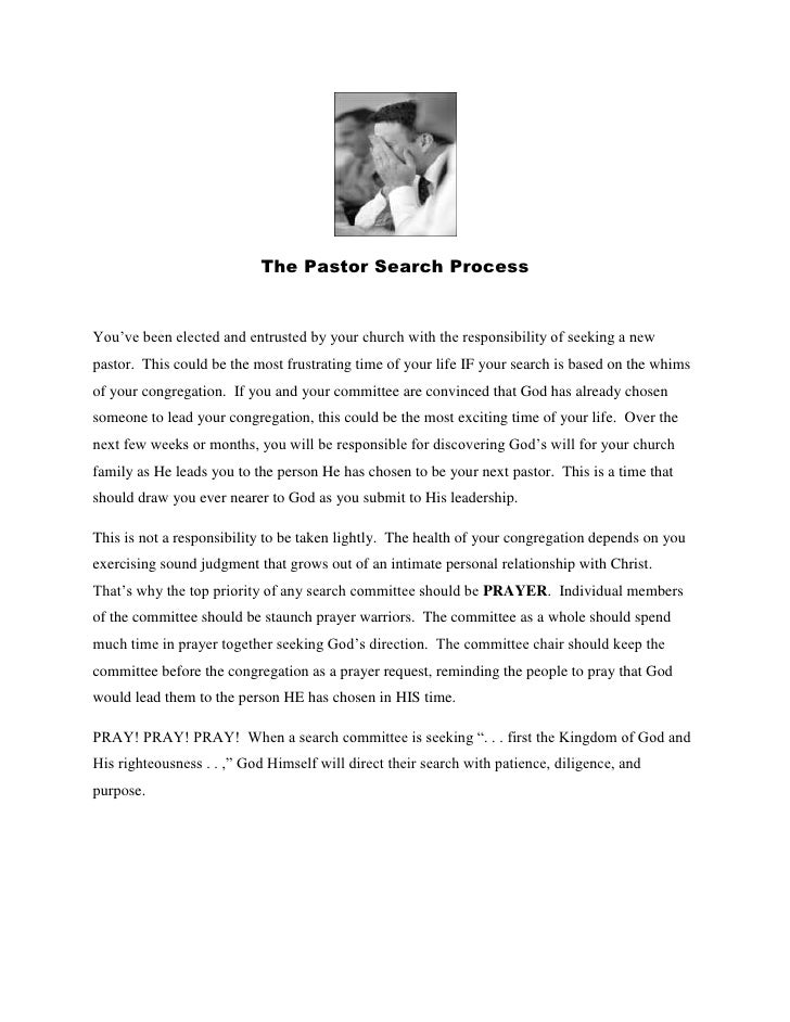 The Pastor Search Process<br />You've been elected and entrusted by your church with the responsibility of seeking a new p...