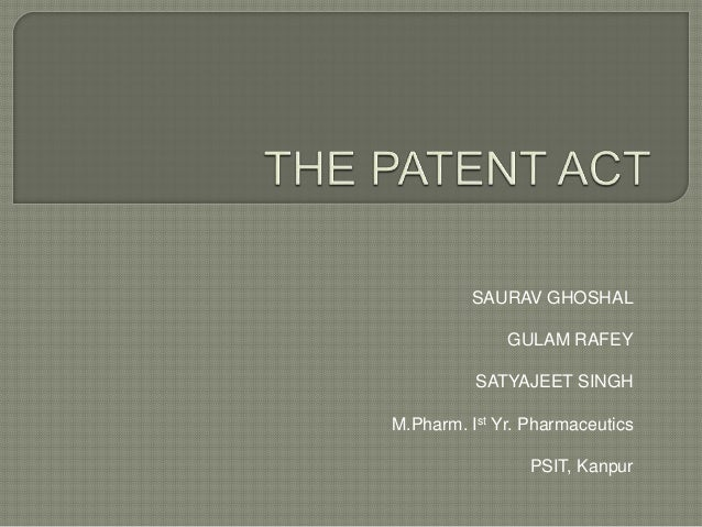 SAURAV GHOSHAL GULAM RAFEY SATYAJEET SINGH M.Pharm. Ist Yr. Pharmaceutics PSIT, Kanpur