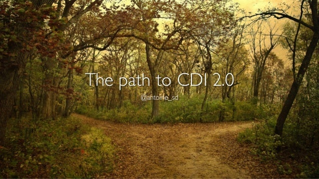 The path to CDI 2.0  @antoine_sd