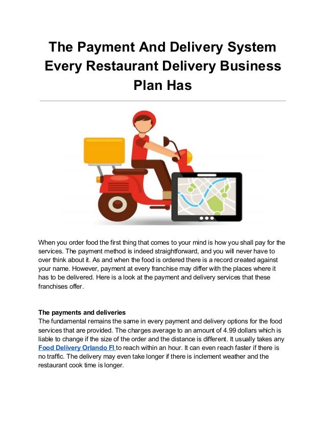 proposal for food delivery service
