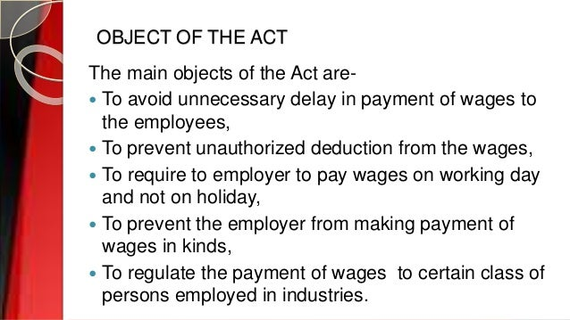the payment of wages act 1936 essay Arrest of vessels: practical considerations  introduction   maintenance and cure, including liens for wages of the master  merchant marine act of 1936,.