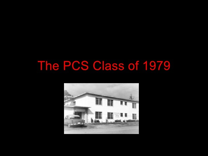The PCS Class of 1979