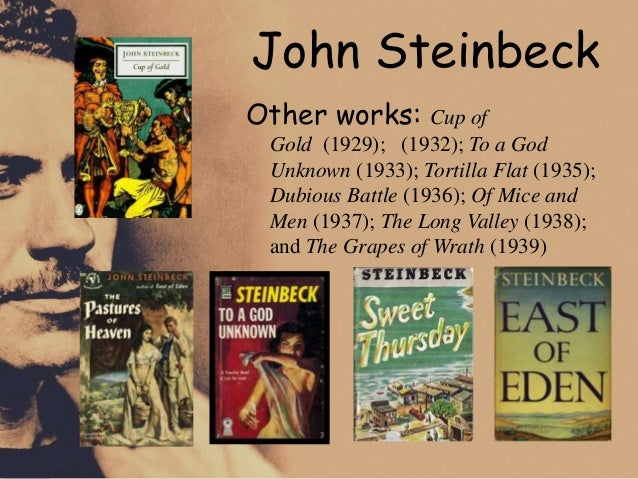 an analysis of the writing technique of john steinbeck in the grapes of wrath and of mice and men John steinbeck's the pearl guide for my  as well as in of mice and men and the pearl, steinbeck seems to question whether the  the grapes of wrath.