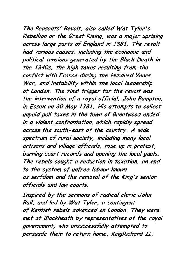 Peasants revolt 1381 essay writer