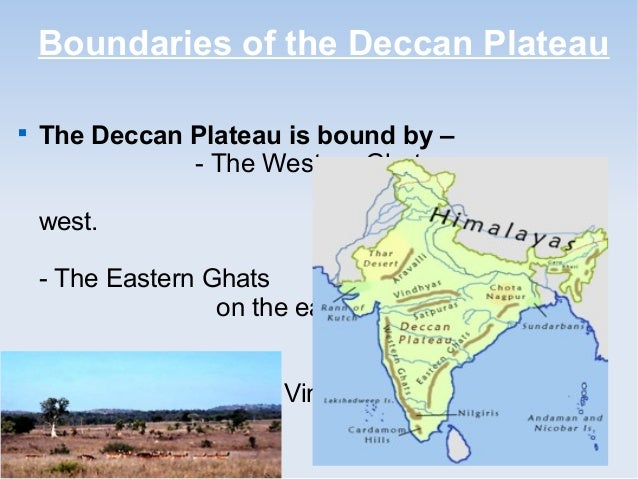 Deccan Plateau In India Physical Map