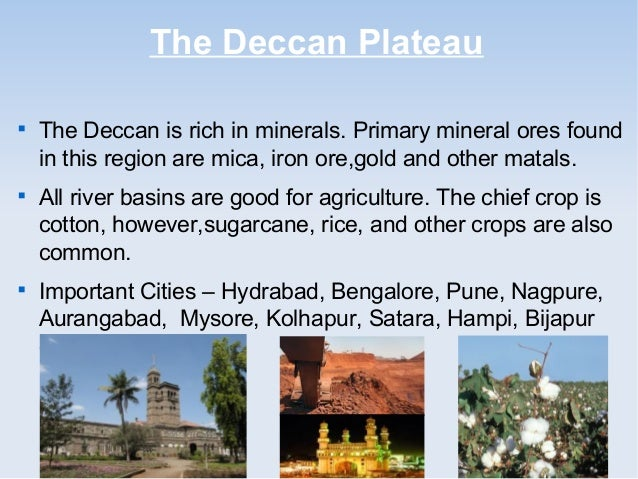 deccan plateau physical features