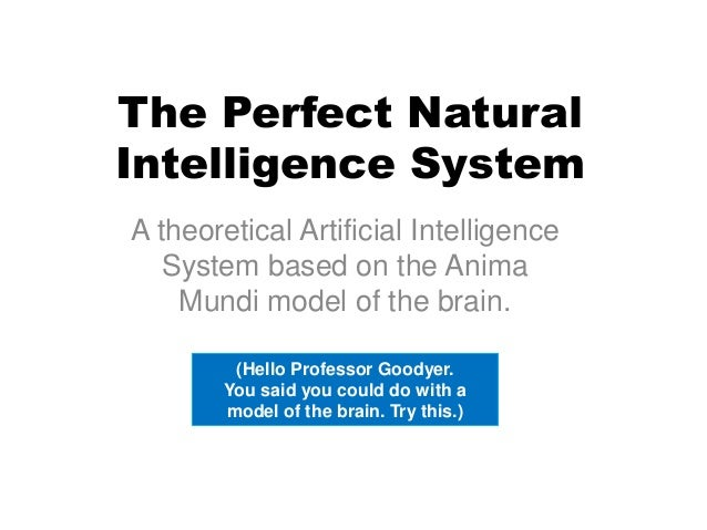 The Perfect Natural Intelligence System A theoretical Artificial Intelligence System based on the Anima Mundi model of the...