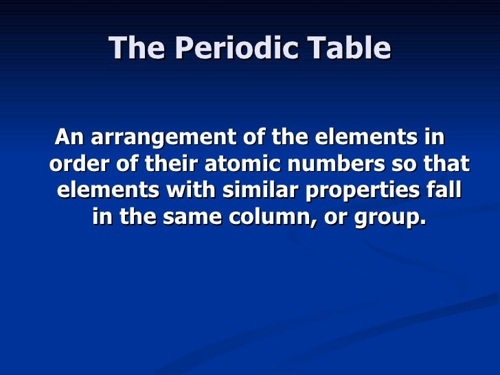 The periodic law 11 the periodic table urtaz Choice Image