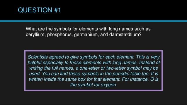 Periodic Table Of Elements Grade 7 1st Quarter