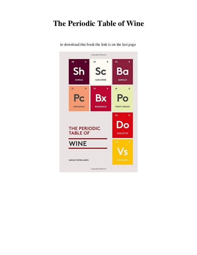 Download The Periodic Table Of Wine