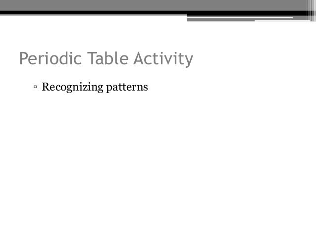 The periodic table periodic law periodic table activity recognizing patterns urtaz Choice Image