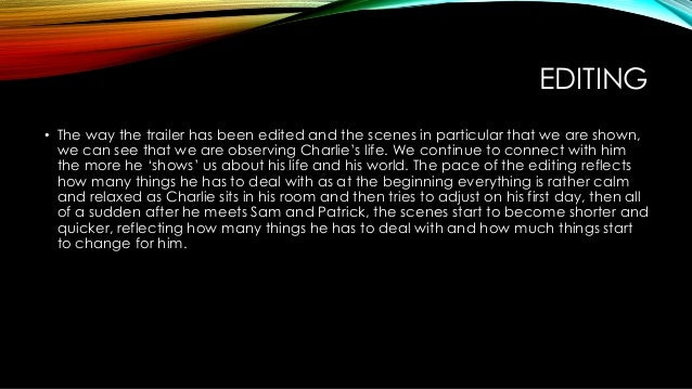 analysis of the perks of being This is the summary of the journey taken place by charlie in, the perks of being a wallflower.