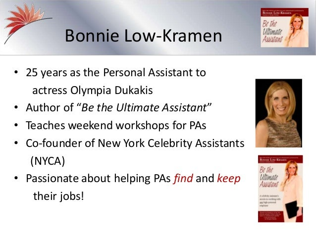 The Personal Assistant Resume: Slides from Recorded Webinar
