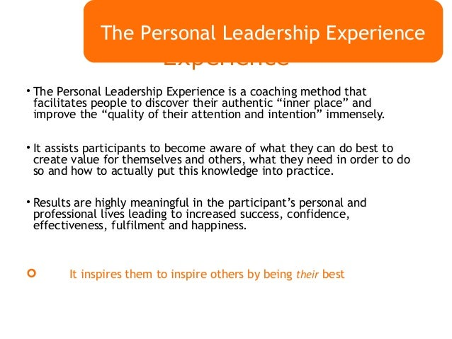 the personal leadership experience  boost your cv and