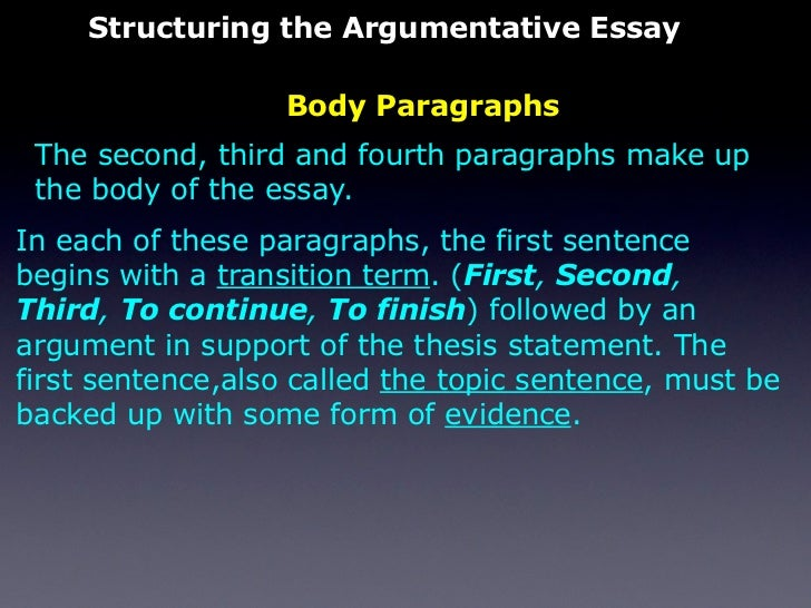 essay body paragraph