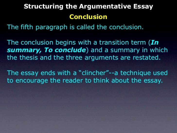 The Persuasive Essay Structuring The Argumentative Essay Conclusion  English Literature Essay Topics also Custom Made Speeches  Modest Proposal Essay Examples