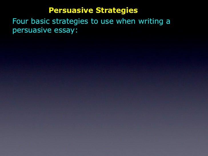 three rhetorical strategies writing essay