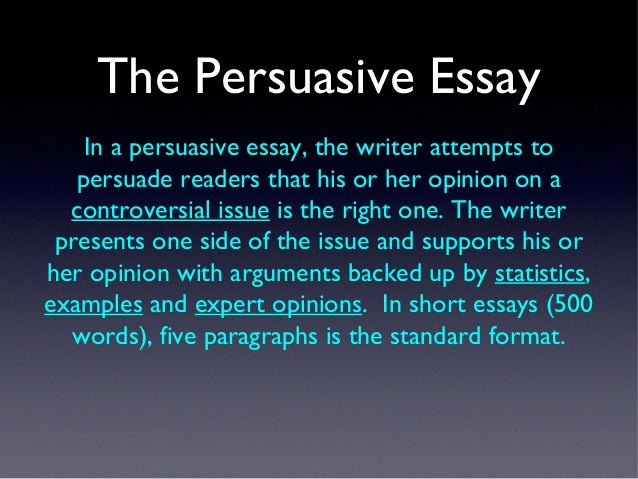 strategy writing persuasive essay