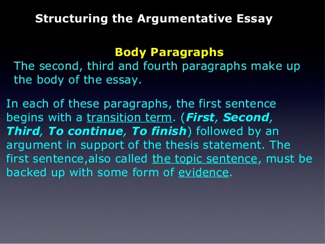 first sentence of an essay is called The first place to start is with your main idea next we saw that the thesis statement is a one- or two-sentence summary of your essay.
