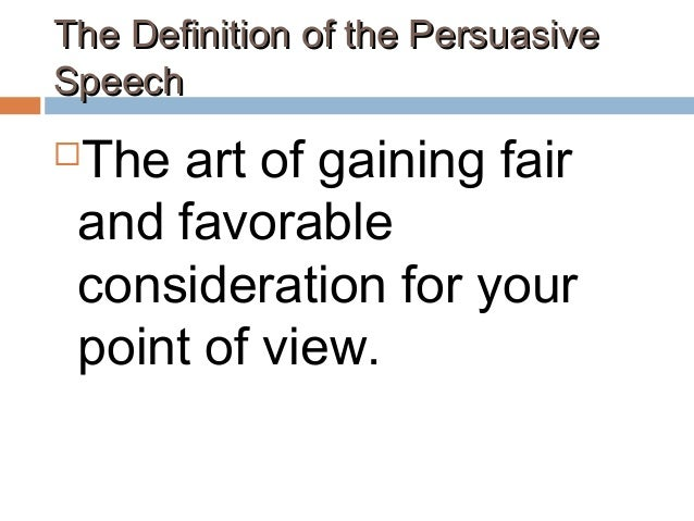 persuasive speech meaning