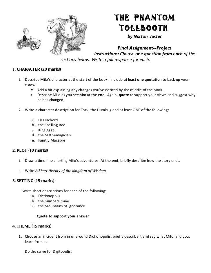 Phantom of the Tollbooth Act 1 Study Stuff! :)
