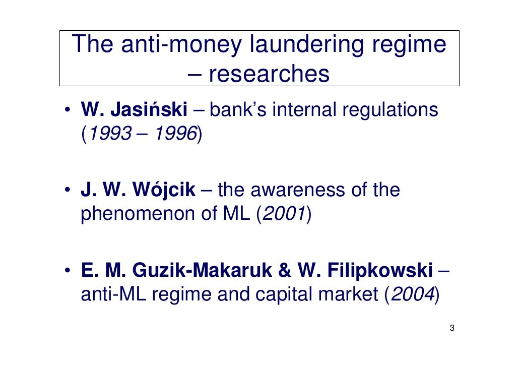 study on the problem of money laundering Sentencing policy for money laundering sentencing policy for money laundering offenses problems with current sentencing policy for money laundering.