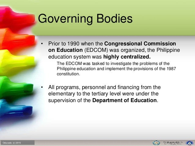 history of the philippine educational system History of philippine madrasah education :  the madrasah educational system has now been upgraded as a vital component of the national educational system,.
