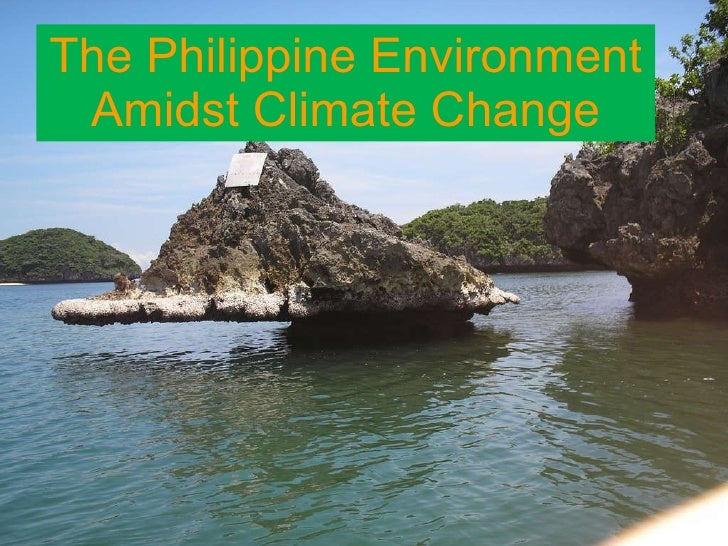 The Philippine Environment Amidst Climate Change