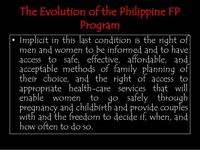 Family planning in the philippines