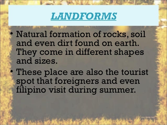 The philippine landforms landforms natural sciox Image collections