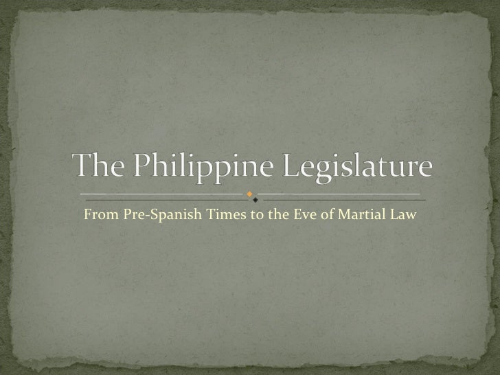 From Pre-Spanish Times to the Eve of Martial Law