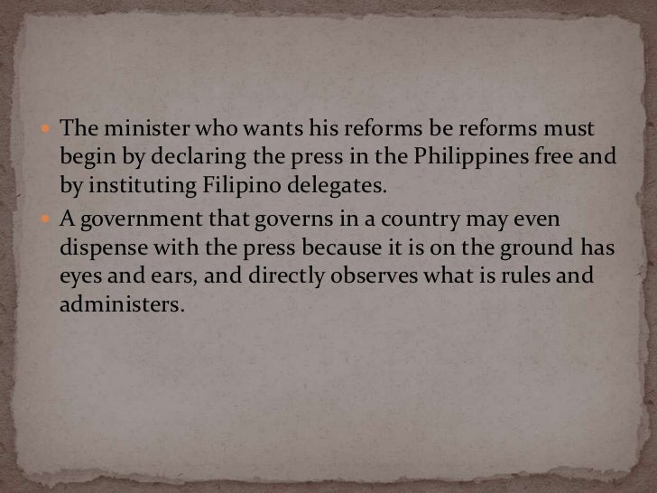 philippines a century hence To buttress his defense of the native's pride and dignity as people, rizal wrote  three significant essays while abroad: the philippines a century hence, the.