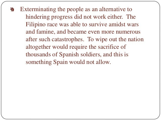 rizals essay the philippines a century hence