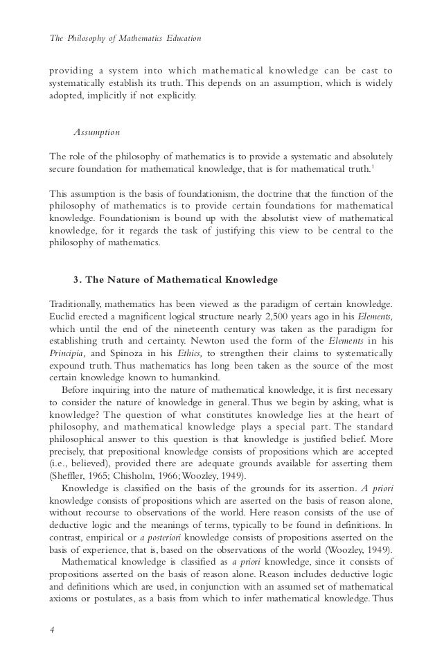 How To Write An Essay Thesis Secondly The Logical Rules Of  The Philosophy Of Mathematics  Example Of An Essay Paper also Research Paper Essay Example The Philosophy Of Mathematics Education  Example Of A Thesis Essay