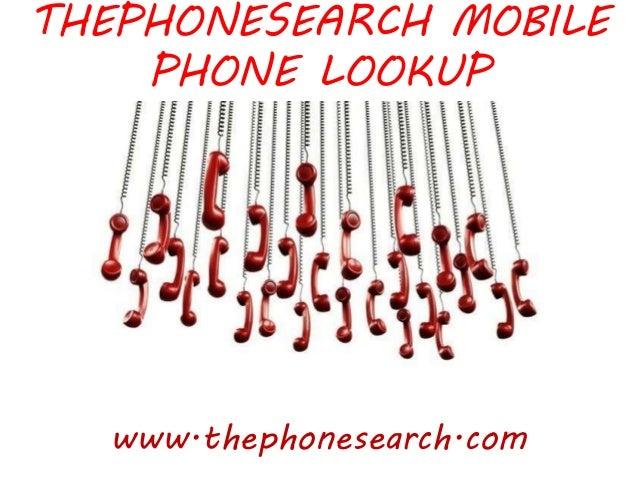 THEPHONESEARCH MOBILE PHONE LOOKUP www.thephonesearch.com