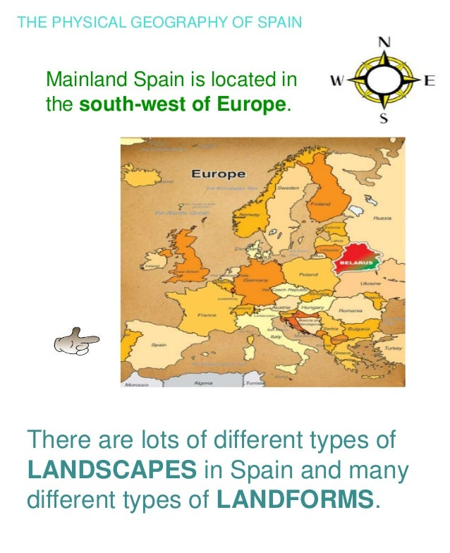 Map Of Spain Geography.The Physical Geography Of Spain