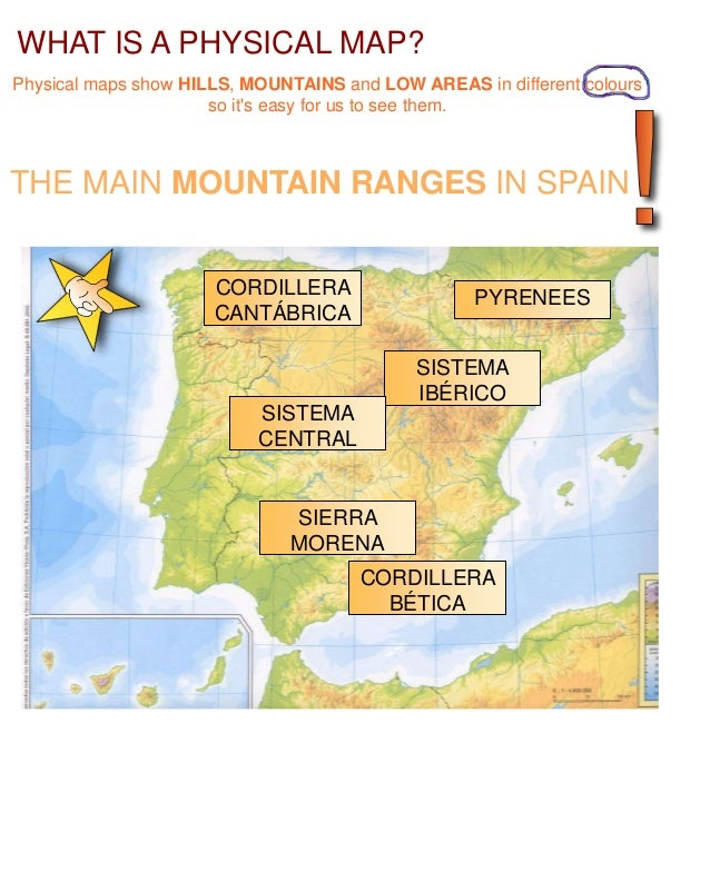 Map Of Spain Mountains.The Physical Geography Of Spain