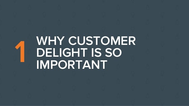 importance of customer delight Customer delight two key elements to ensure customer satisfaction  by harold curtis this article was featured in january 2016's best of back to basics edition we all know the basics of customer satisfaction: on-time delivery, quality performance, customer complaint resolution and parts per million (ppm).