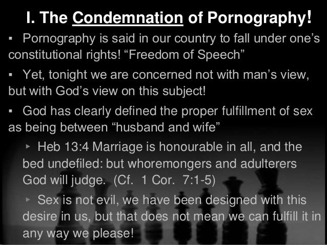 What does the bible say about pornography