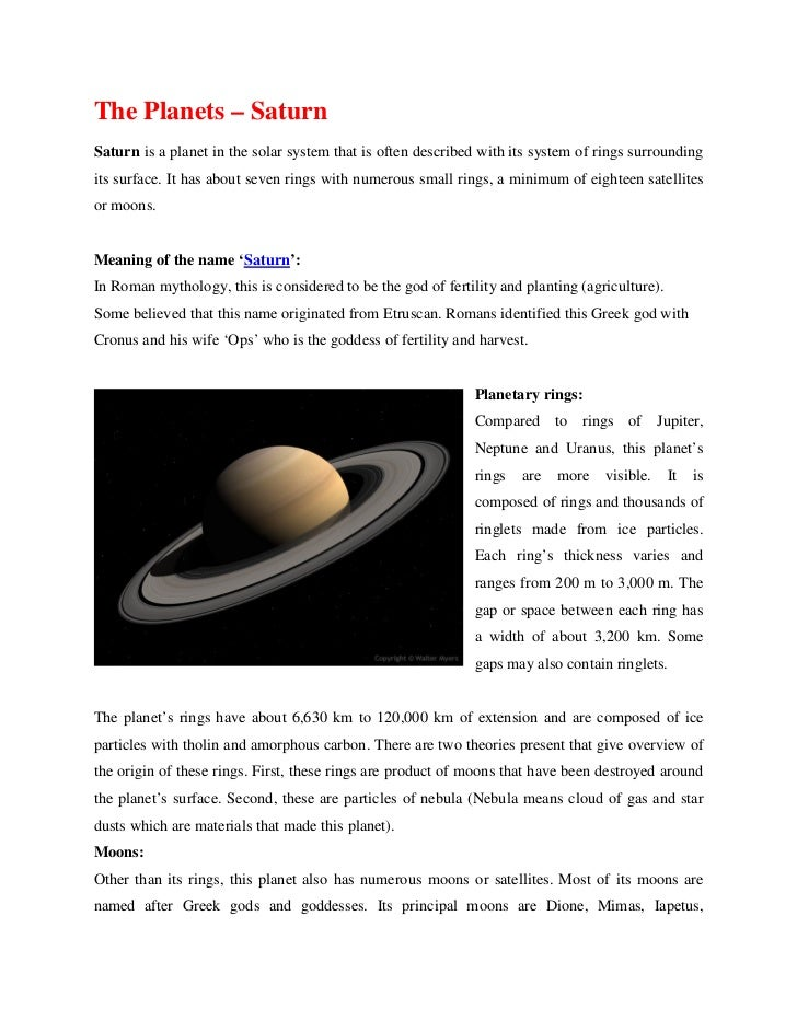 saturn planet information earth - photo #29